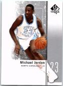 2011-12 SP Authentic Basketball #1 Michael Jordan North Carolina Tar Heels Official NCAA Trading Card From Upper Deck