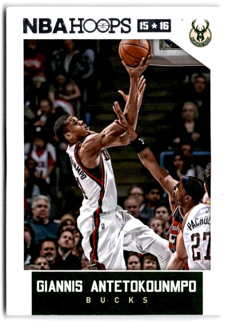 2015-16 NBA Hoops #71 Giannis Antetokounmpo Milwaukee Bucks  Official Basketball Card made by Panini
