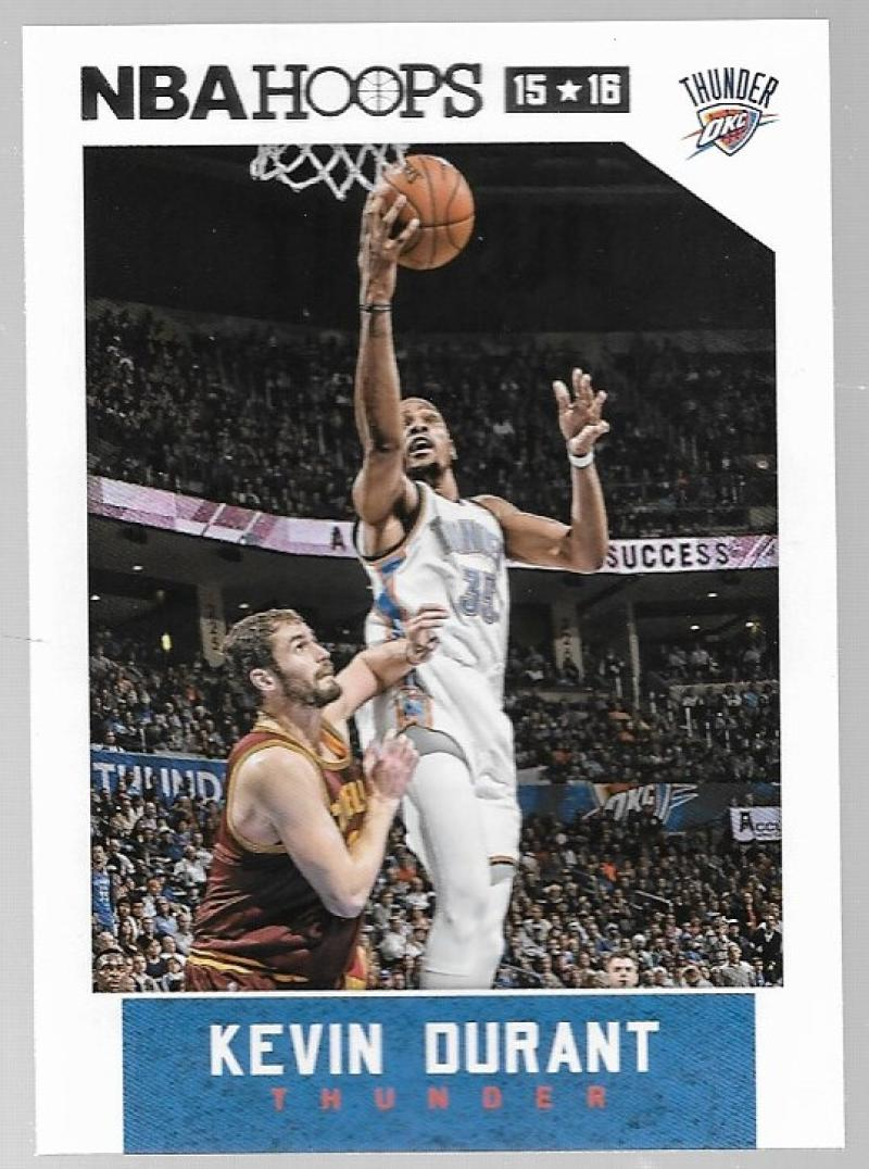 2015-16 NBA Hoops #92 Kevin Durant Oklahoma City Thunder  Official Basketball Card made by Panini