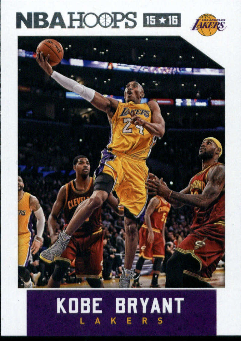 2015-16 NBA Hoops #172 Kobe Bryant Los Angeles Lakers  Official Basketball Card made by Panini
