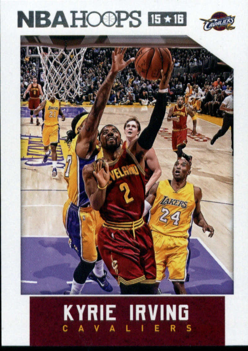 2015-16 NBA Hoops #222 Kyrie Irving Cleveland Cavaliers  Official Basketball Card made by Panini