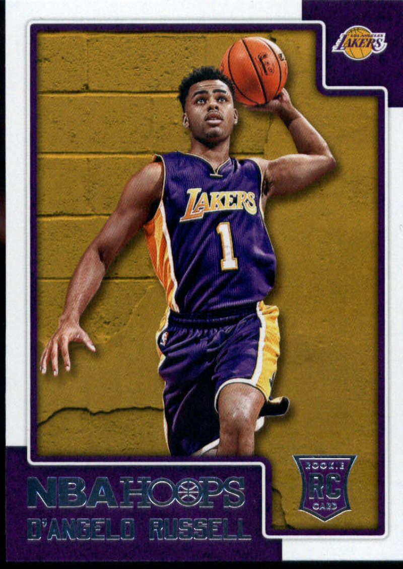 2015-16 NBA Hoops #265 D'Angelo Russell Los Angeles Lakers  Official RC Rookie Basketball Card made by Panini