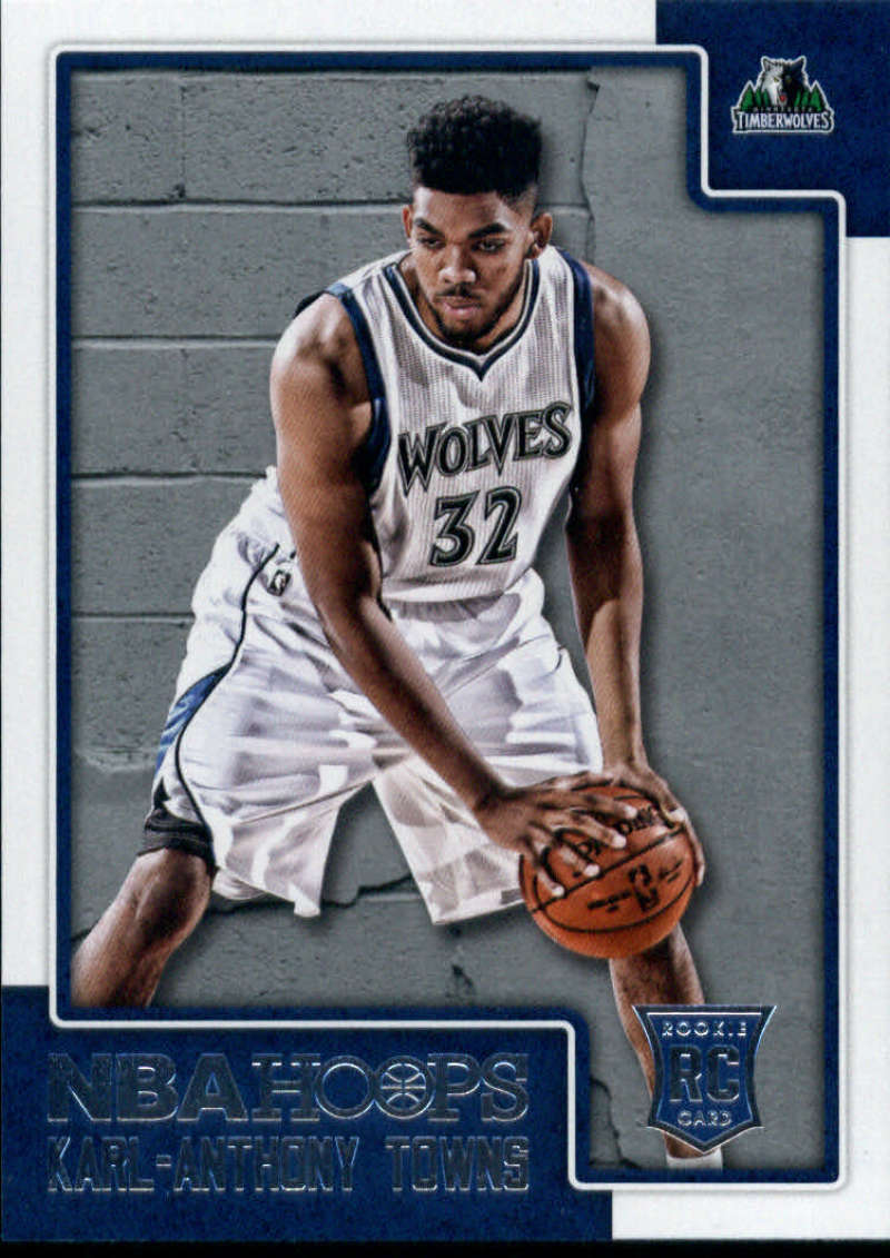 2015-16 NBA Hoops #289 Karl-Anthony Towns Minnesota Timberwolves  Official RC Rookie Basketball Card made by Panini