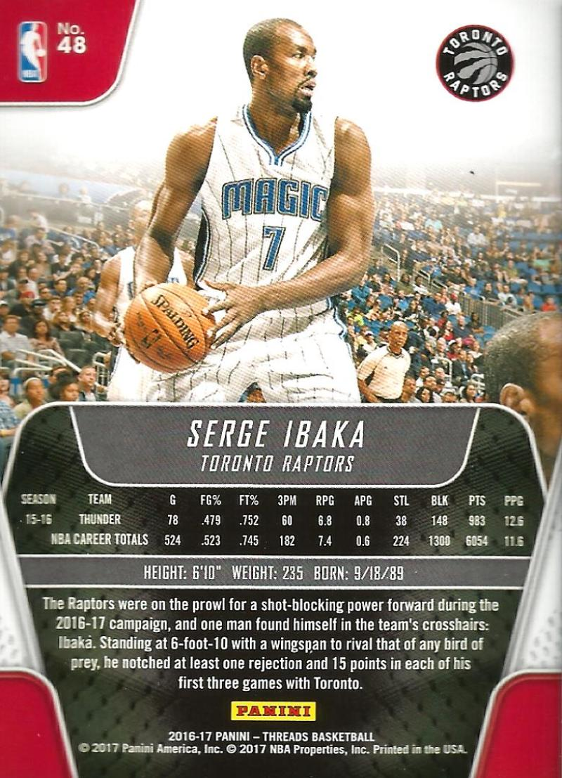 2016-17-Panini-Threads-Basketball-Base-and-RC-Cards-Choose-Card-039-s-1-200 thumbnail 53