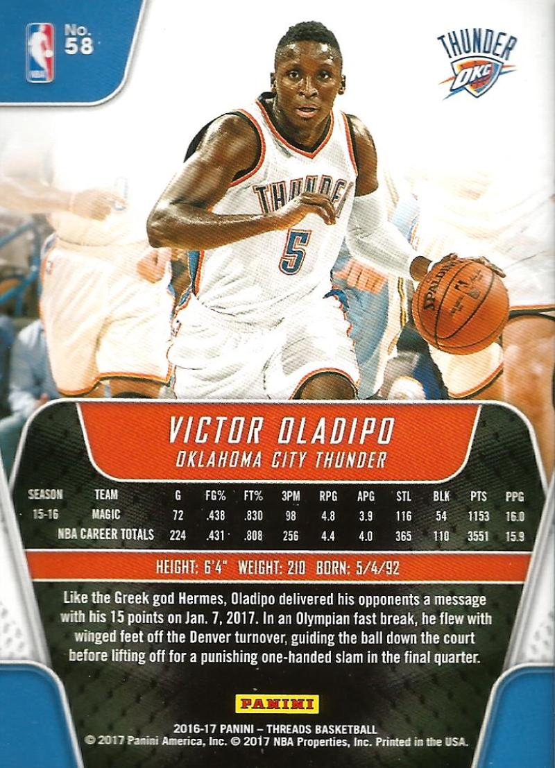 2016-17-Panini-Threads-Basketball-Base-and-RC-Cards-Choose-Card-039-s-1-200 thumbnail 62
