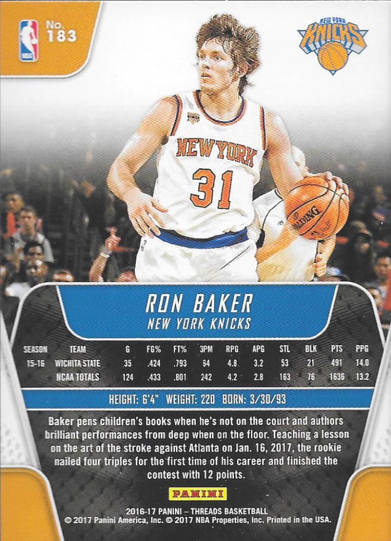 2016-17-Panini-Threads-Basketball-Base-and-RC-Cards-Choose-Card-039-s-1-200 thumbnail 163