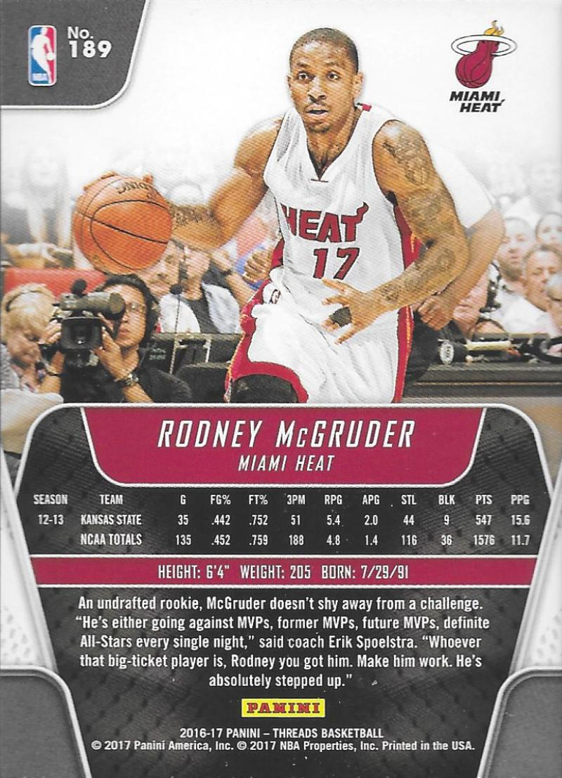 2016-17-Panini-Threads-Basketball-Base-and-RC-Cards-Choose-Card-039-s-1-200 thumbnail 170