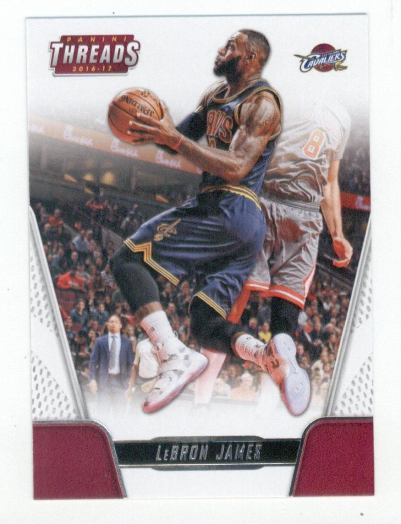 2016-17 Panini Threads #64 LeBron James Cleveland Cavaliers