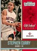 2016-17 Panini Contenders Draft Picks Old School Colors #19 Stephen Curry Davidson Wildcats Collegiate Basketball Card