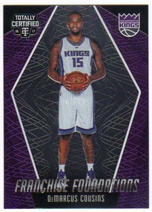 Basketball NBA 2016-17 Totally Certified Franchise Foundations #9 DeMarcus Cousins  Sac Kings