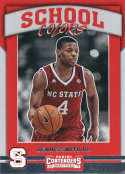 2017-18 Panini Contenders Draft Picks School Colors #8 Dennis Smith Jr. NC State Wolfpack