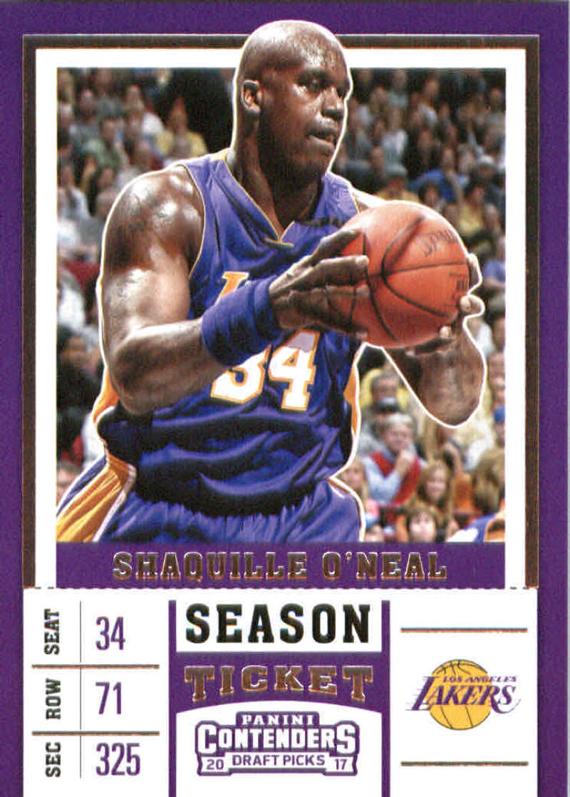 2017-18 Panini Contenders Draft Picks Season Ticket #45 Shaquille O'Neal Purple Jersey Los Angeles