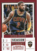 2017-18 Panini Contenders Drafts Picks Season Ticket #34 Kyrie Irving Blue Jersey Cleveland Cavalier