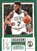 2017-18 Panini Contenders Draft Picks Season Ticket White Jersey #23 Jaylen Brown Boston Celtics