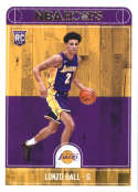 2017-18 Panini Hoops #252 Lonzo Ball Los Angeles Lakers
