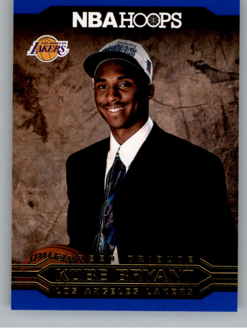 2017-18 Panini Hoops Kobe Bryant Career Tribute Blue