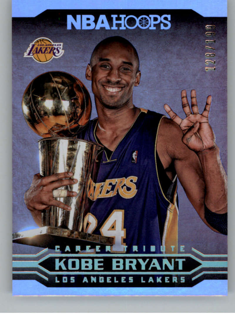 2017-18 Panini Hoops Kobe Bryant Career Tribute Silver
