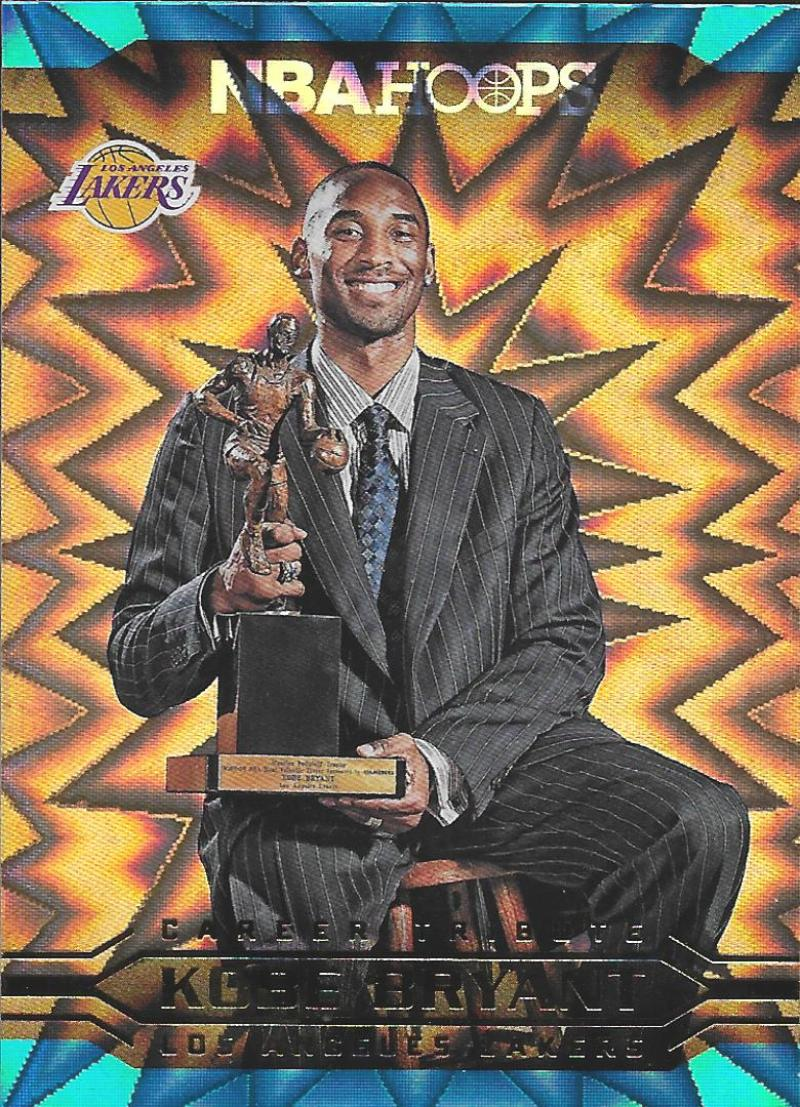 2017-18 Panini Hoops Kobe Bryant Career Tribute Teal Explosion