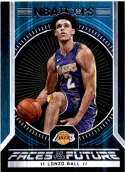 2017-18 Panini Hoops Faces of the Future #2 Lonzo Ball Los Angeles Lakers