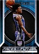 2017-18 Panini Hoops Faces of the Future #5 De'Aaron Fox Sacramento Kings