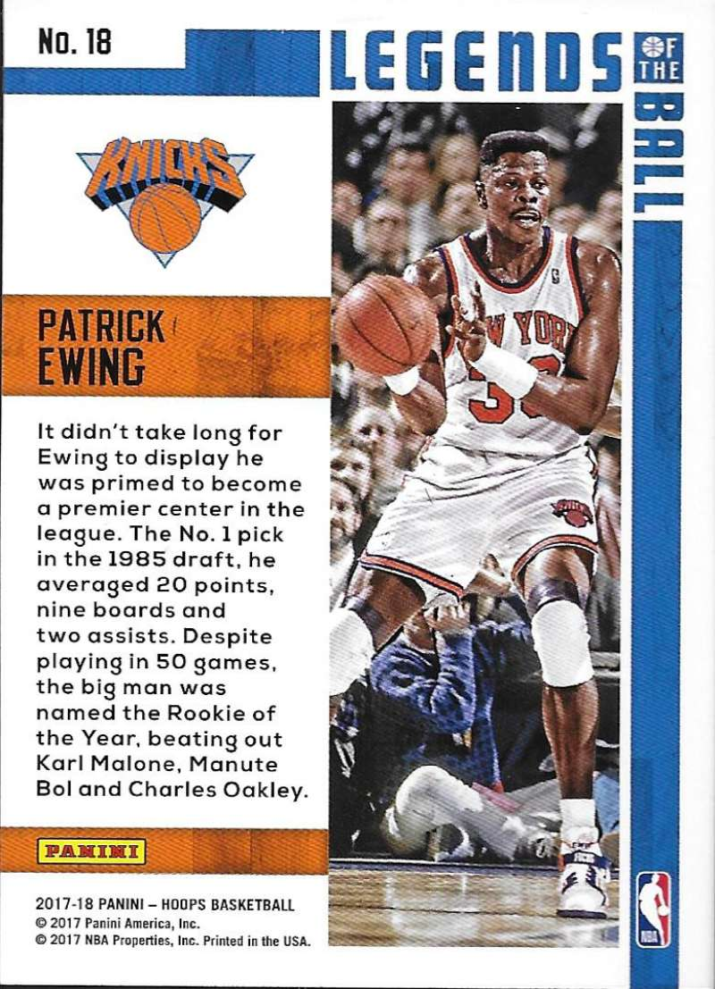 2017-18-Panini-Hoops-Legends-of-the-Ball-Basketball-Insert-Cards-Pick-From-List thumbnail 11