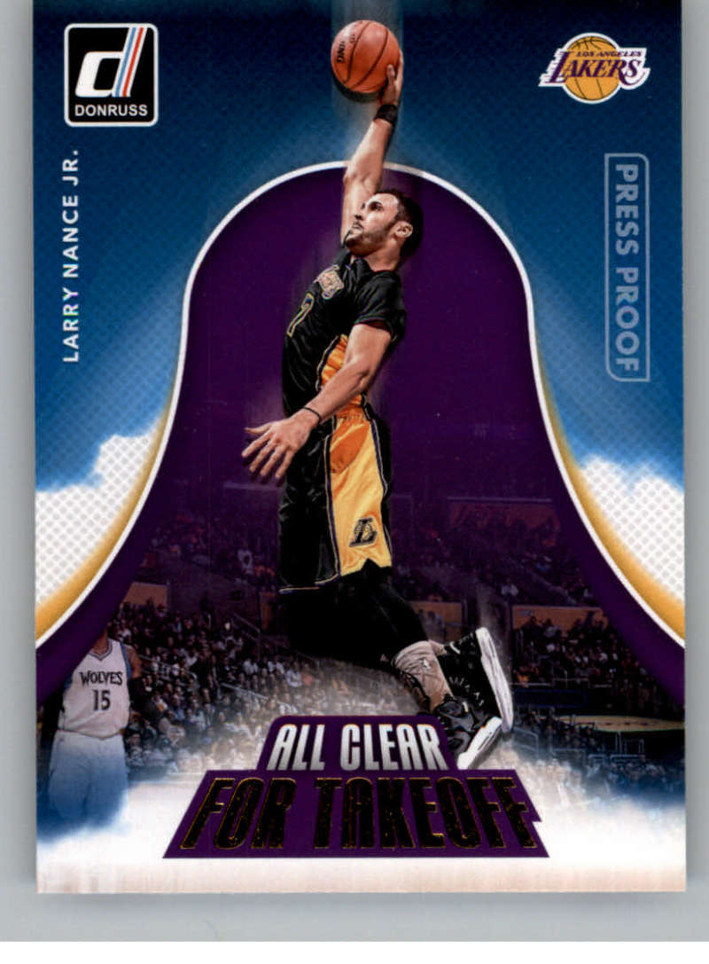 2017-18 Donruss  All Clear for Takeoff Press Proof