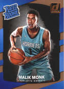 2017-18 Donruss #190 Malik Monk RC Rookie Charlotte Hornets Rated Rookie