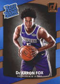 2017-18 Donruss #196 De'Aaron Fox RC Rookie Sacramento Kings Rated Rookie