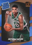2017-18 Donruss #198 Jayson Tatum RC Rookie Boston Celtics Rated Rookie
