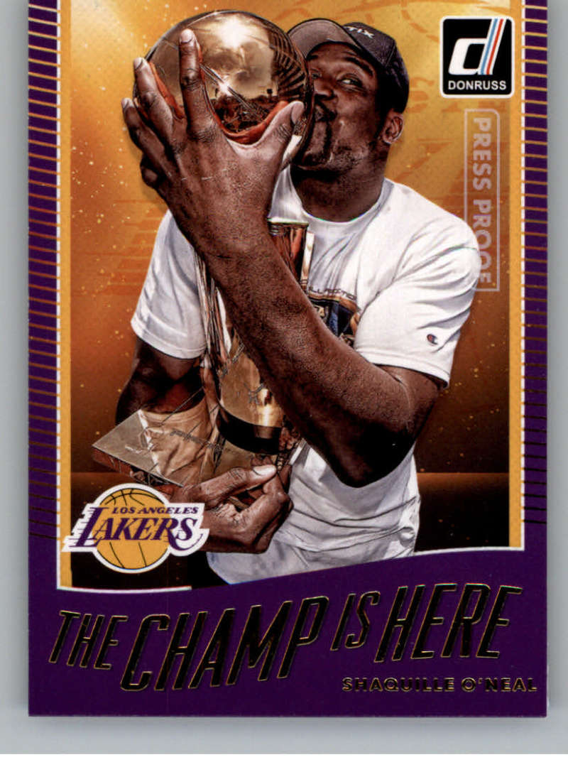 2017-18 Donruss  The Champ is Here Press Proof