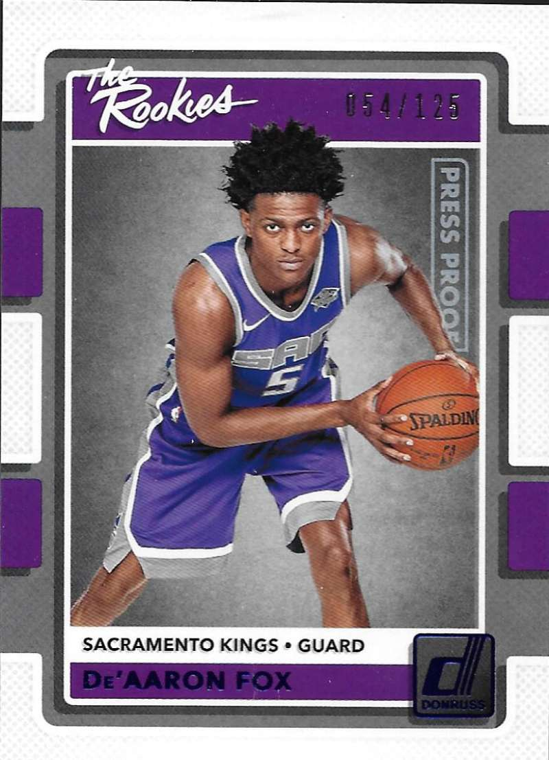 2017-18 Donruss  The Rookies Press Proof Blue