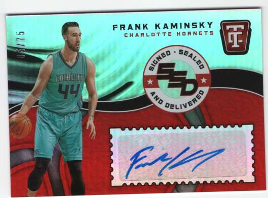 2017-18 Panini Totally Certified Signed Sealed and Delivered