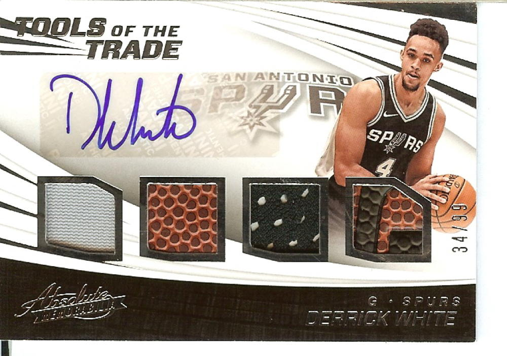 2017-18 Panini Absolute Tools of the Trade - Four Swatch Signatures