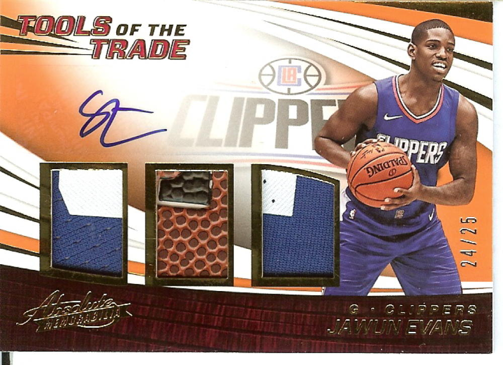 2017-18 Panini Absolute Tools of the Trade - Three Swatch Signatures Level 2