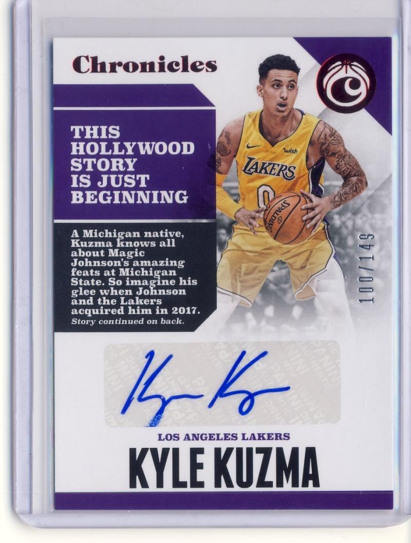 2017-18 Panini Chronicles Autographs Red
