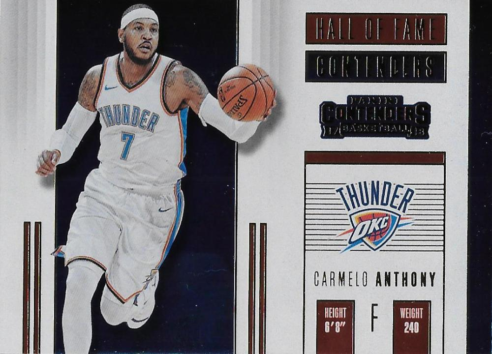 2017-18 Panini Contenders Hall of Fame Contenders