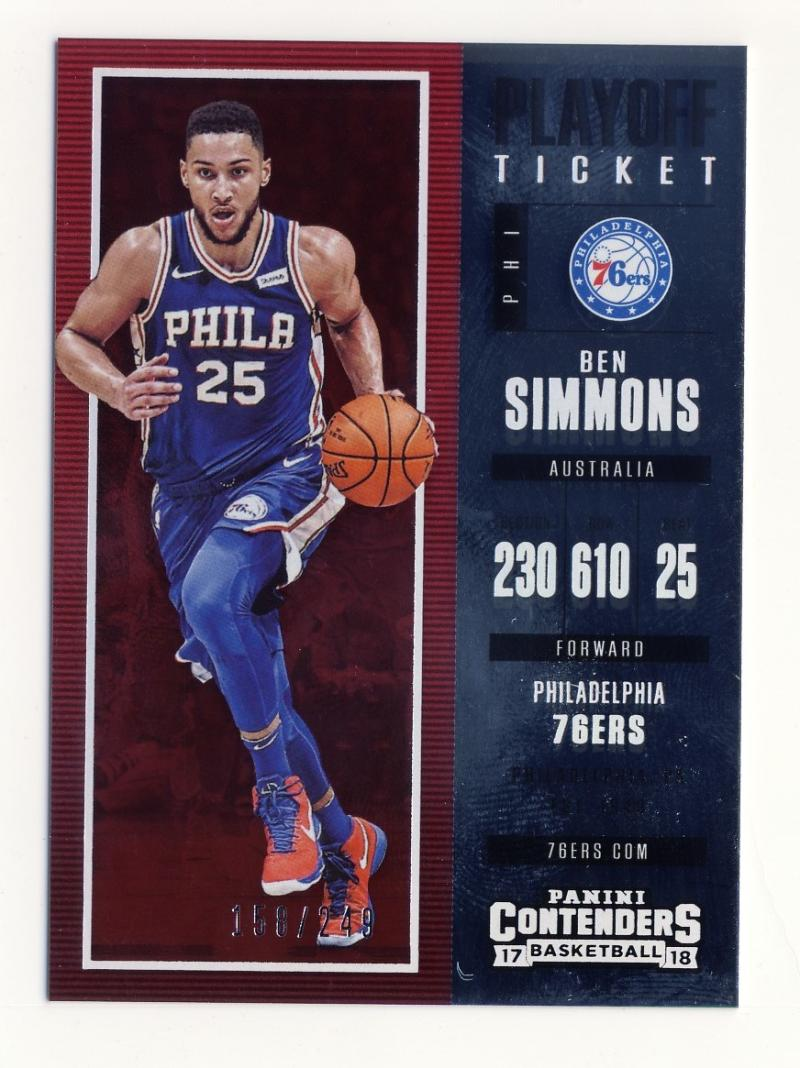 2017-18 Panini Contenders Playoff Ticket