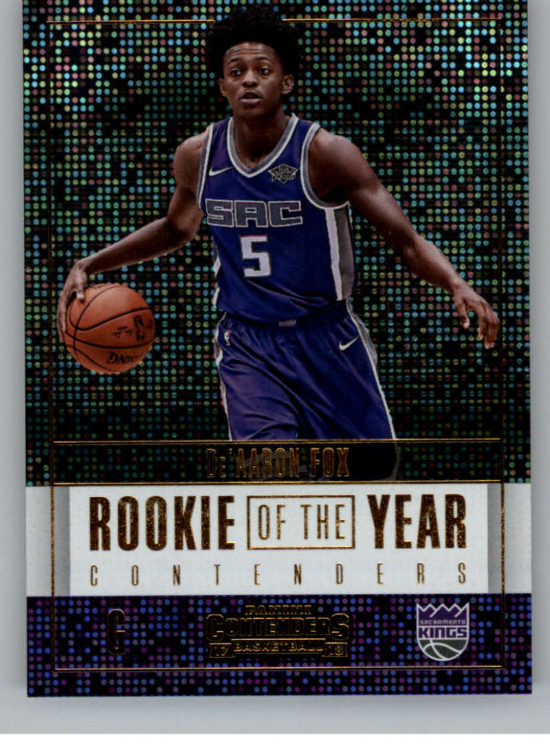 2017-18 Panini Contenders Rookie of the Year Contenders
