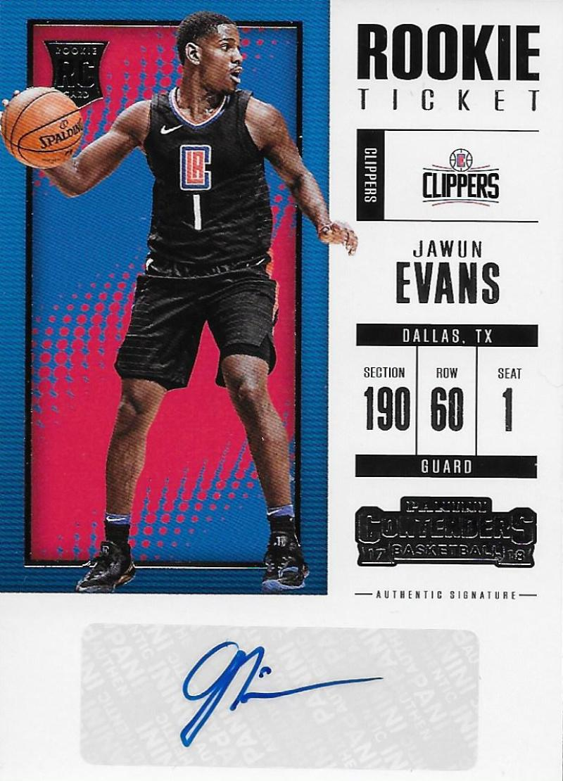 2017-18 Panini Contenders Rookie Season Ticket Retail Autographs