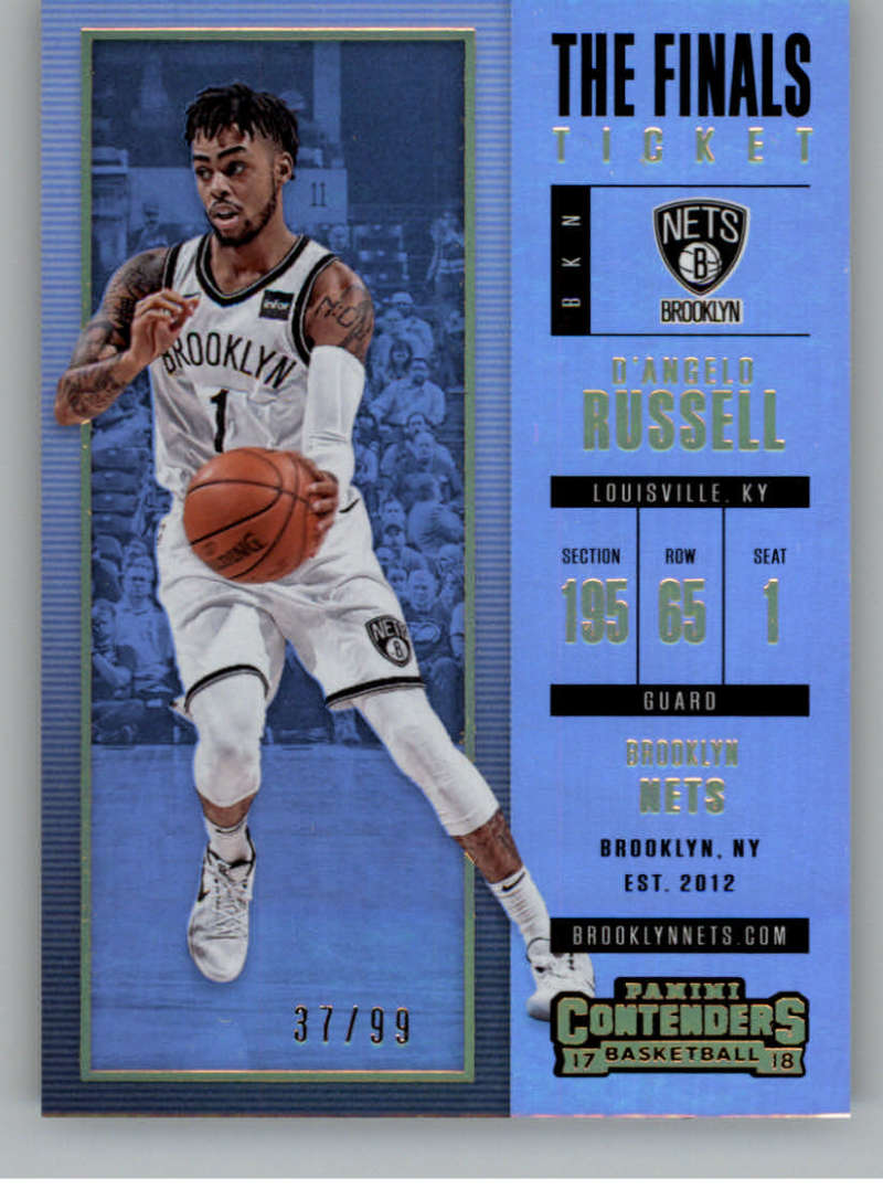 2017-18 Panini Contenders The Finals Ticket