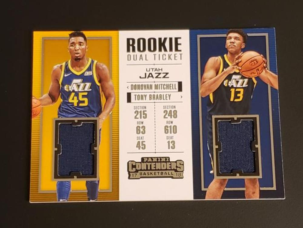 2017-18 Panini Contenders Rookie Ticket Dual Swatches