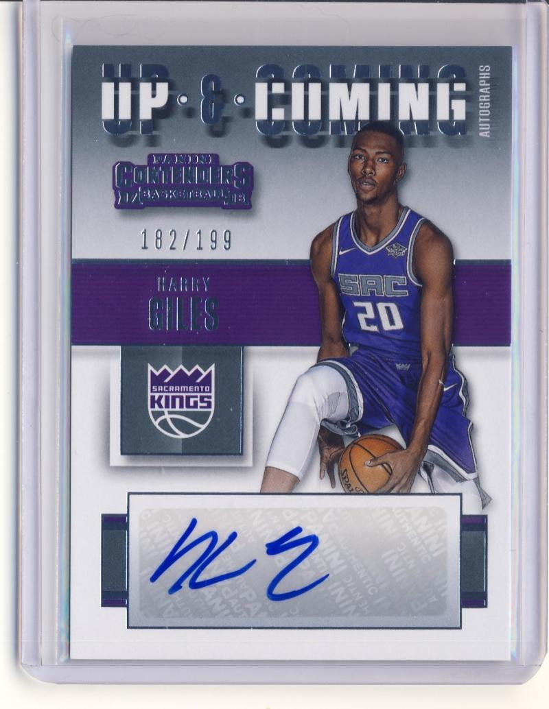 2017-18 Panini Contenders Up and Coming Contenders Autographs