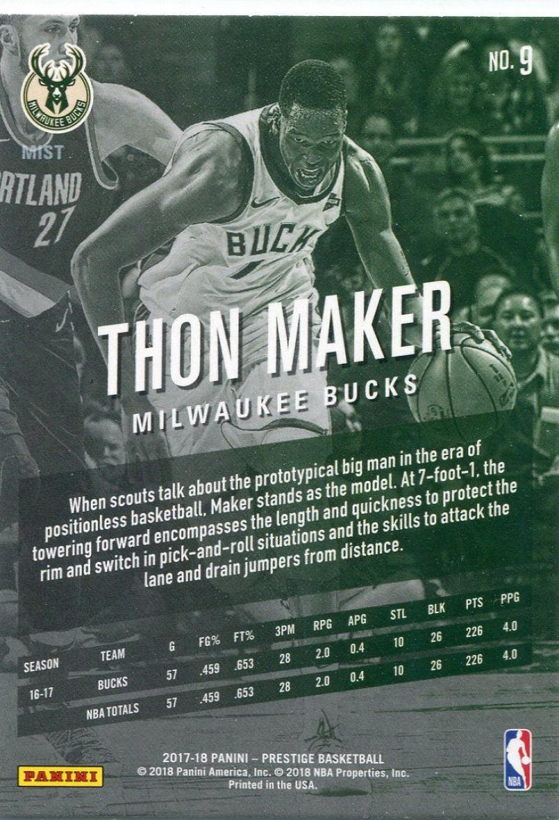 Justin Jackson, 2017-18 Prestige baloncesto Walker #165 rookie