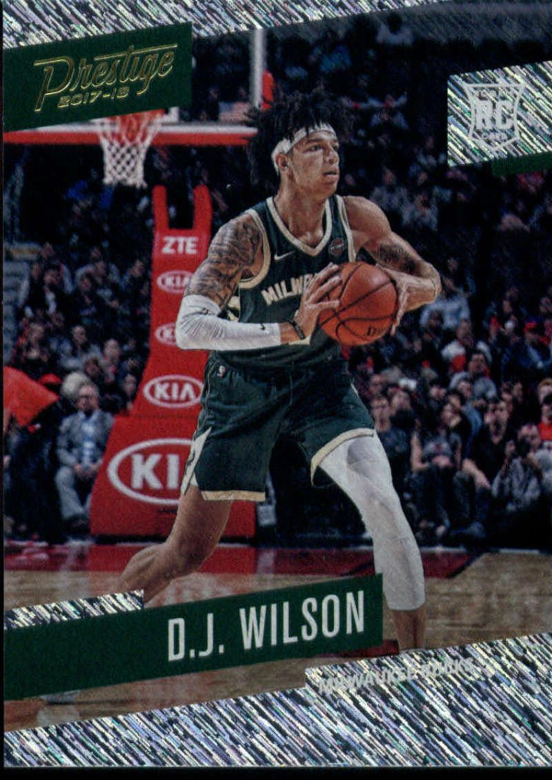 2017-18 Panini Prestige Rain #167 D.J. Wilson Milwaukee Bucks Rookie