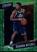 2017-18 Panini Prestige Micro Etch Rookies Bright Green Cracked Ice #13 Donovan Mitchell Utah Jazz