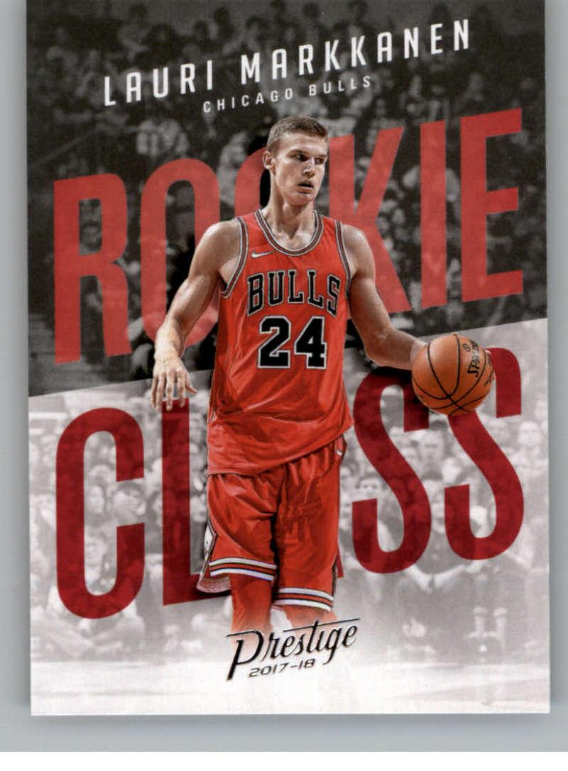 2017-18 Panini Prestige Rookie Class #7 Lauri Markkanen Chicago Bulls