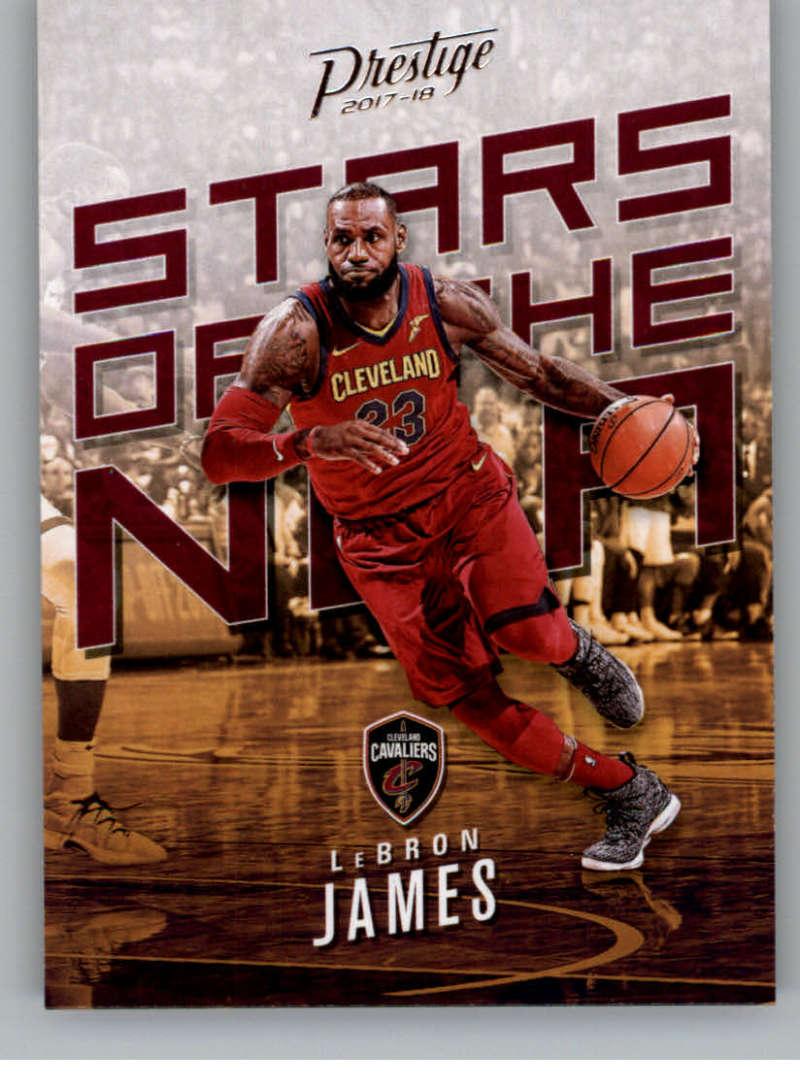 2017-18 Panini Prestige Stars of the NBA #2 LeBron James Cleveland Cavaliers