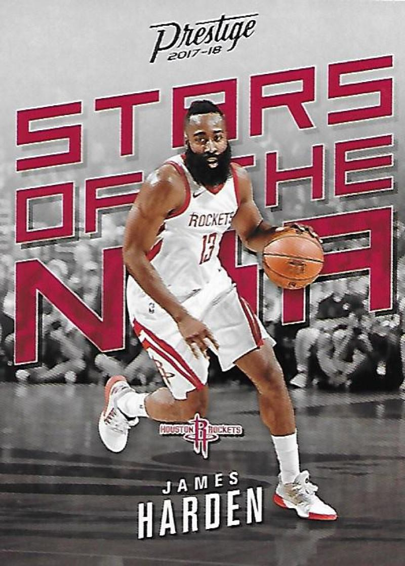 2017-18 Panini Prestige Stars of the NBA #4 James Harden Houston Rockets