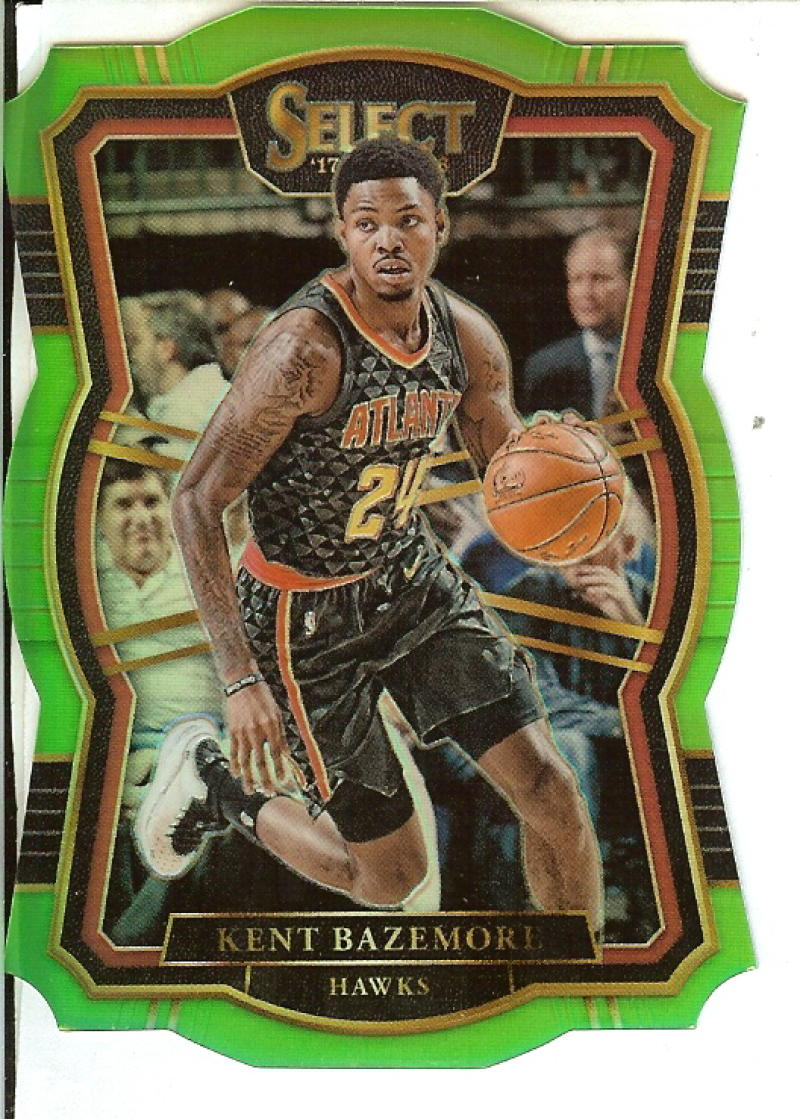 2017-18 Panini Select Neon Green Prizms Die Cut