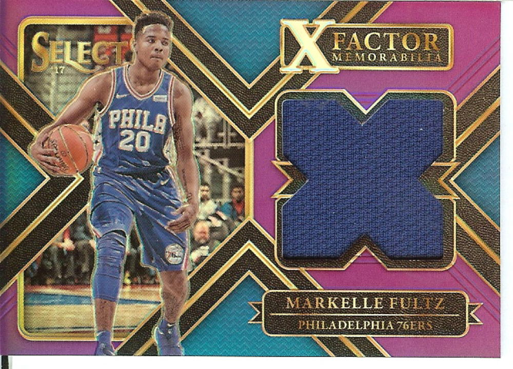 2017-18 Panini Select X-Factor Memorabilia Purple Prizms